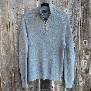Express • gray knit sweater